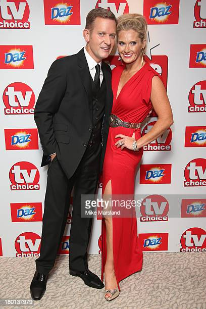 Jeremy Kyle and his wife Kirsty Rowley attend the TV Choice Awards 2013 at The Dorchester on September 9 2013 in London England