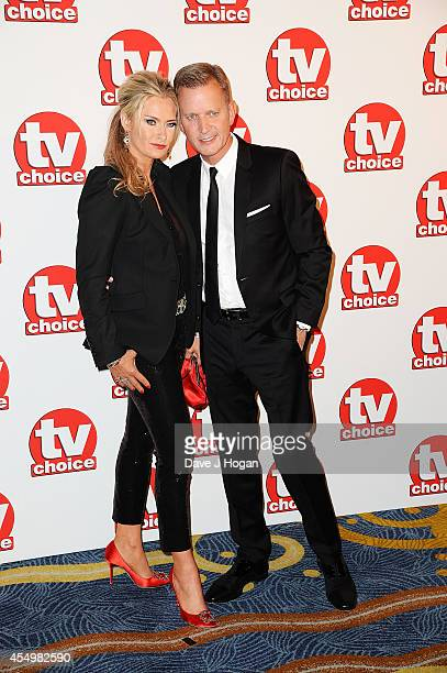 Jeremy Kyle and Kirsty Rowley attend the TV Choice Awards 2014 at London Hilton on September 8 2014 in London England