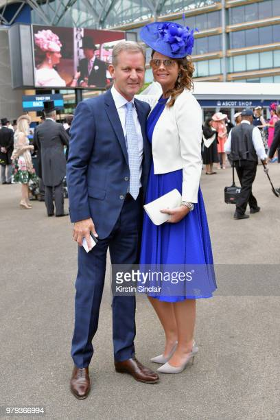 Jeremy Kyle and Vicky Burton attend day 2 of Royal Ascot at Ascot Racecourse on June 20 2018 in Ascot England