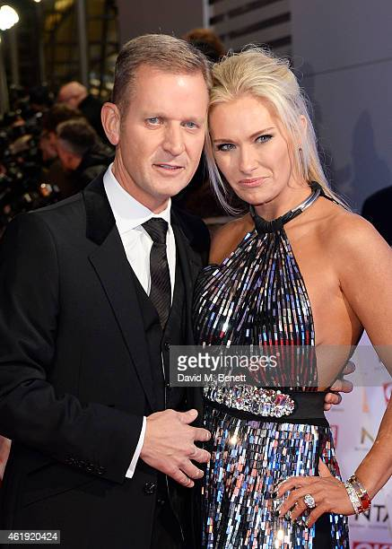 Jeremy Kyle and wife Carla Germaine attend the National Television Awards at 02 Arena on January 21 2015 in London England