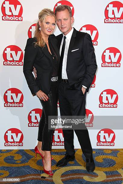 Jeremy Kyle and wife Carla Germaine attend the TV Choice Awards 2014 at London Hilton on September 8 2014 in London England