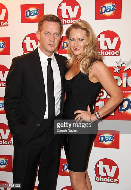 Jeremy Kyle and wife Carla Germaine attend the TV Choice awards at The Savoy Hotel on September 13 2011 in London England