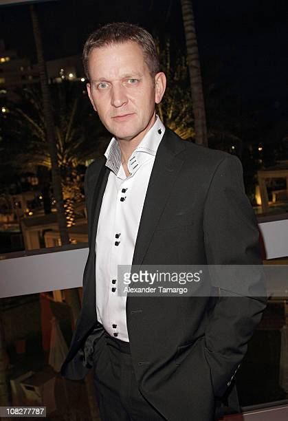 Jeremy Kyle attends Jeremy Kyle's cocktail party during NATPE 2011 at Scarpetta restaurant at Fontainebleau Miami Beach on January 23 2011 in Miami...