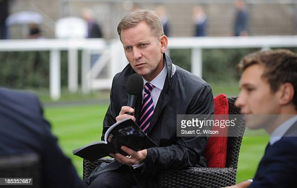 Jeremy Kyle attends the British Champions Day at Ascot Racecourse on October 19 2013 in Ascot England