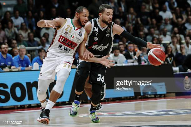 Jeremy Lamar Chappell and Kyle Weems during the Italy Lega Basket of Serie A match between Segafredo Virtus Bologna and Umana Reyer Venezia at...