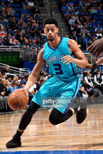 Jeremy Lamb of the Charlotte Hornets drives to the basket against the Orlando Magic on March 22 2017 at Amway Center in Orlando Florida NOTE TO USER...