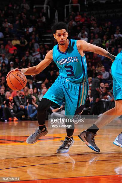 Jeremy Lamb of the Charlotte Hornets handles the ball against the Phoenix Suns on January 6 2016 at US Airways Center in Phoenix Arizona NOTE TO USER...