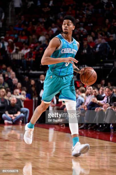 Jeremy Lamb of the Charlotte Hornets handles the ball against the Houston Rockets on December 13 2017 at the Toyota Center in Houston Texas NOTE TO...