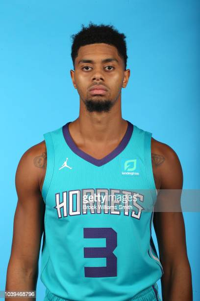 Jeremy Lamb of the Charlotte Hornets poses for a head shot during media day on September 24 at the Spectrum Center in Charlotte North Carolina NOTE...