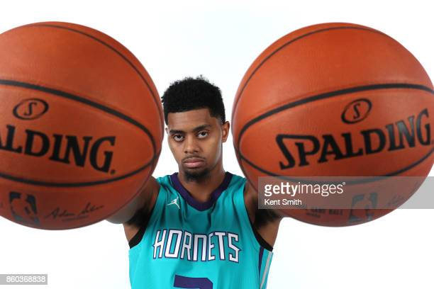 Jeremy Lamb of the Charlotte Hornets poses for a portrait during media day on September 25 2017 at Spectrum Center in Charlotte North Carolina NOTE...
