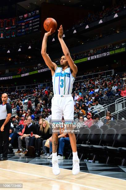 Jeremy Lamb of the Charlotte Hornets shoots the ball against the Atlanta Hawks on February 9 2019 at State Farm Arena in Atlanta Georgia NOTE TO USER...