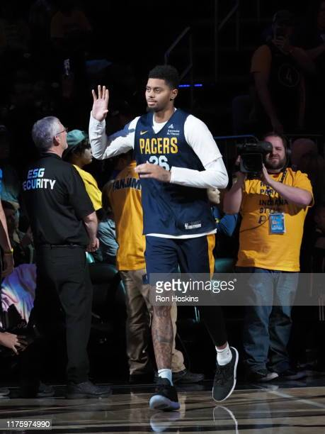 Jeremy Lamb of the Indiana Pacers during Fan Jam on October 13 2019 in Indianapolis Indiana NOTE TO USER User expressly acknowledges and agrees that...