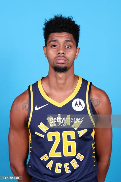 Jeremy Lamb of the Indiana Pacers poses for a head shot during media day on September 27 2019 at Bankers Life Fieldhouse in Indianapolis Indiana NOTE...