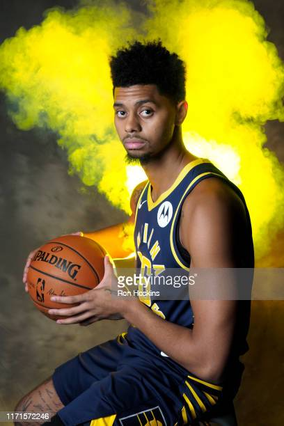 Jeremy Lamb of the Indiana Pacers poses for a portrait during media day on September 27 2019 at Bankers Life Fieldhouse in Indianapolis Indiana NOTE...