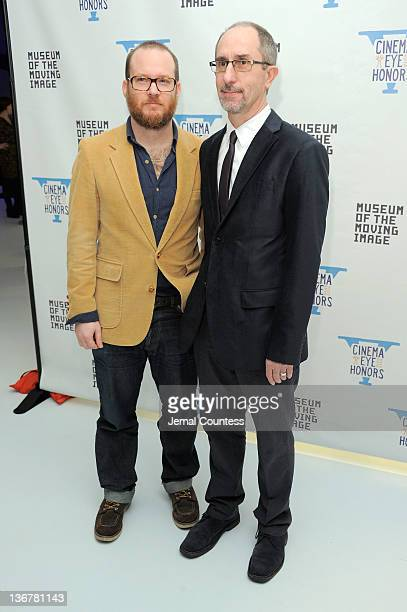 Jeremy Landman and John Kusiak attend the 5th Annual Cinema Eye Honors for Nonfiction Filmmaking at the Museum of the Moving Image on January 11 2012...