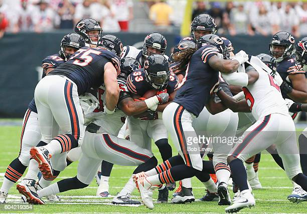 Jeremy Langford of the Chicago Bears rushes up the middle against the Houston Texansduring a NFL football game at NRG Stadium on September 11, 2016...