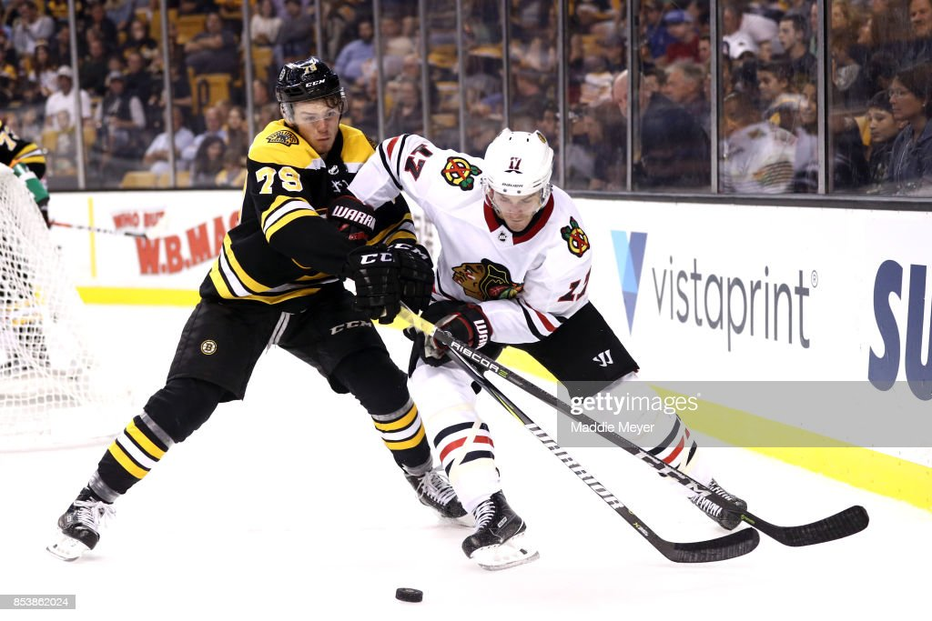Chicago Blackhawks v Boston Bruins : News Photo