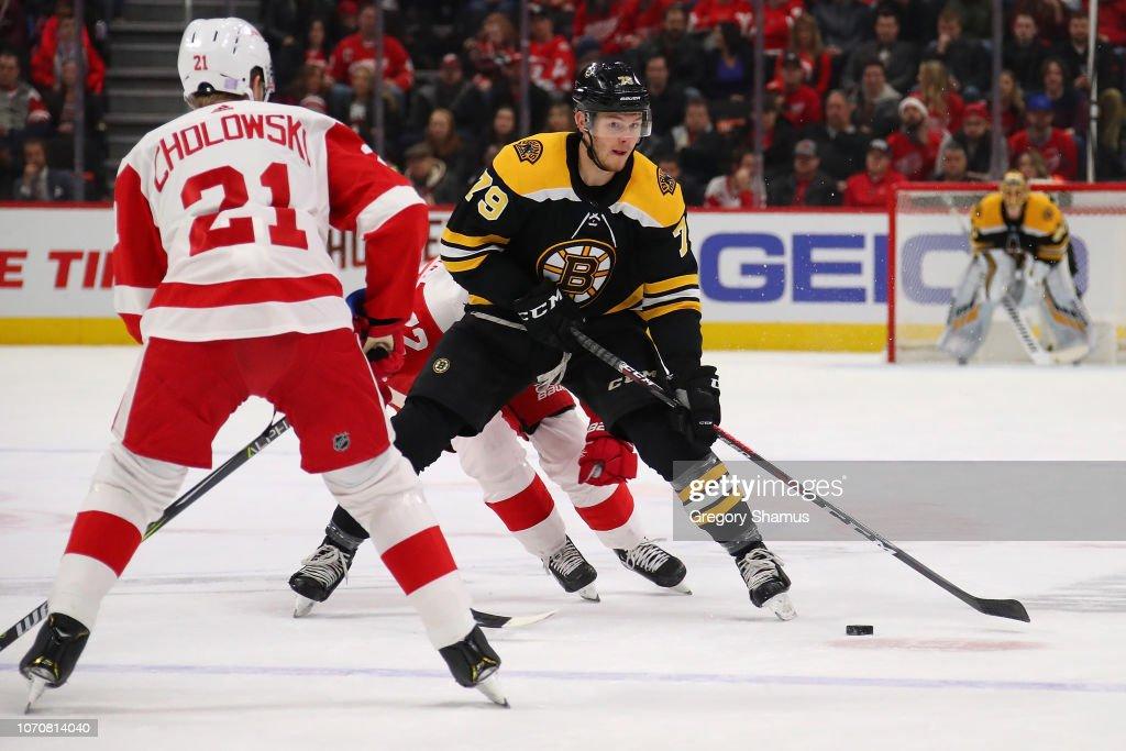 Boston Bruins v Detroit Red Wings : Fotografía de noticias