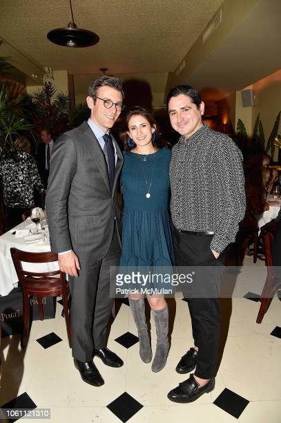 Jeremy Leventhal Caroline Leventhal and Jose Diaz attend The Andy Warhol Museum's Annual NYC Dinner at Indochine on November 12 2018 in New York New...