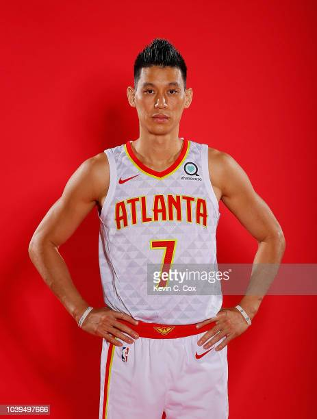 Jeremy Lin of the Atlanta Hawks poses for portraits during media day at Emory Sports Medicine Complex on September 24 2018 in Atlanta Georgia