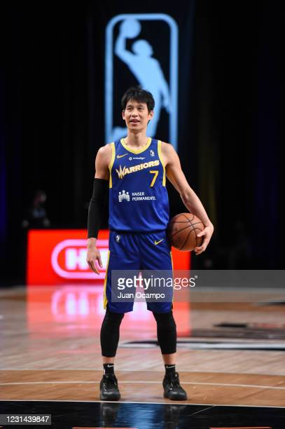 Jeremy Lin of the Santa Cruz Warriors shoots a free throw against the Austin Spurs on February 28, 2021 at AdventHealth Arena in Orlando, Florida....
