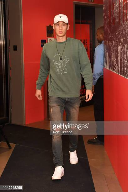 Jeremy Lin of the Toronto Raptors arrives at the arena before the game against the Milwaukee Bucks in Game Four of the Eastern Conference Finals on...