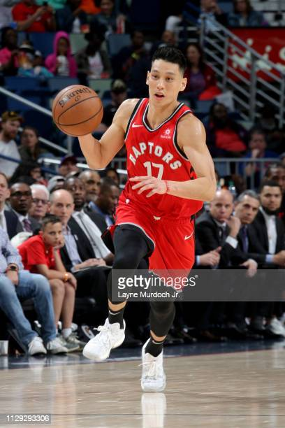 Jeremy Lin of the Toronto Raptors handles the ball during the game against the New Orleans Pelicans on March 9 2019 at the Smoothie King Center in...