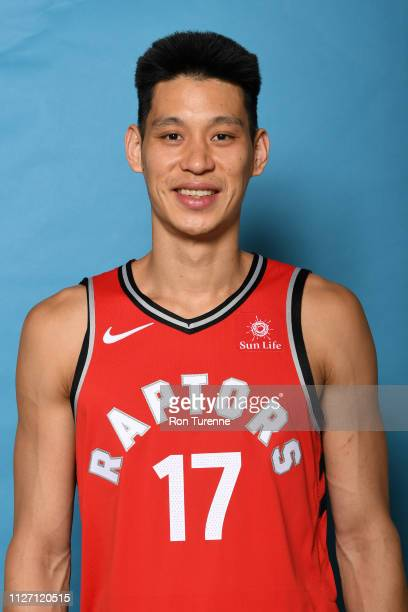 Jeremy Lin of the Toronto Raptors poses for a head shot on February 24 2019 at the Scotiabank Arena in Toronto Ontario Canada NOTE TO USER User...