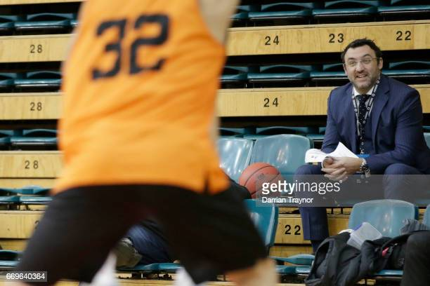 Jeremy Loeliger looks on during the NBL Combine 2017/18 at Melbourne Sports and Aquatic Centre on April 18 2017 in Melbourne Australia