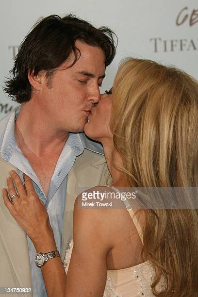 Jeremy London and his girlfriend Melissa during Tiffany and Co celebrates the launch of Frank Gehry's premiere collection at Tiffany and Co Store in...