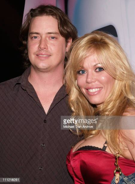 Jeremy London and Melissa Cunningham during 2006 Lingerie Bowl After Party at Hollywood Roosevelt Hotel in Hollywood California United States