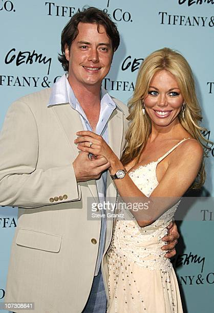 Jeremy London and Melissa Cunningham during Tiffany Co Celebrates The Launch Of Frank Gehry's Premier Collection On Rodeo Drive Arrivals at Tiffany...