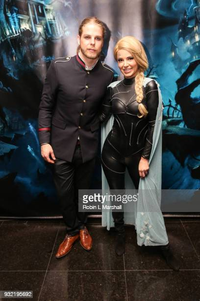 Jeremy Madix and Ariana Madix of 'Vanderpump Rules' attend Kyle Chan's Dark Disney Birthday Party at Sofitel Hotel on March 14 2018 in Los Angeles...