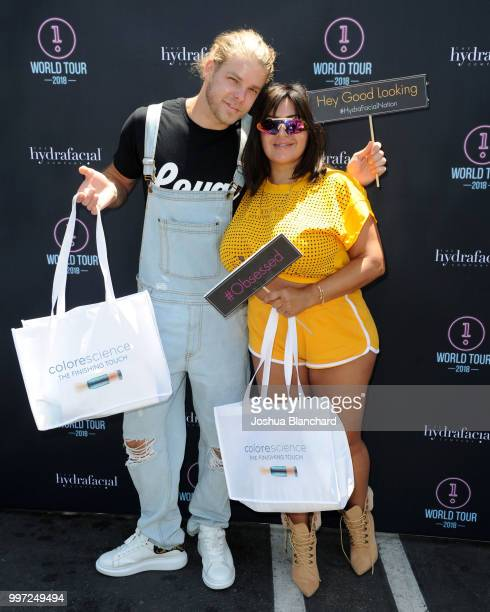 Jeremy Madix and Mercedes 'MJ' Javid attend the HydraFacial World Tour Los Angeles on July 12 2018 in Venice California