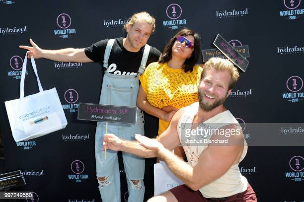 Jeremy Madix Mercedes 'MJ' Javid and Craig Ramsay attend the HydraFacial World Tour Los Angeles on July 12 2018 in Venice California