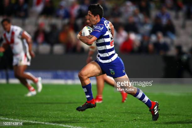 Jeremy MarshallKing of the Bulldogs makes a break during the round 24 NRL match between the St George Illawarra Dragons and the Canterbury Bulldogs...