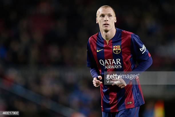 Jeremy Mathieu of FC Barcelona during the Copa del Rey match between FC Barcelona and Villarreal at Camp Nou on february 11, 2015 in Barcelona, Spain