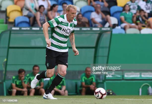 Jeremy Mathieu of Sporting CP in action during the Pre-Season Friendly match between Sporting CP and Empoli FC at Estadio Jose Alvalade on August 5,...