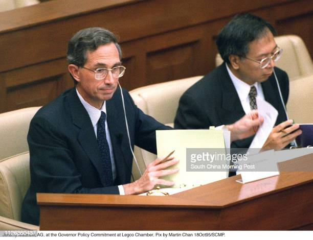 Jeremy Matthew AttorneyGeneral at the Governor Policy Commitment at Legco Chamber 18 Oct 95