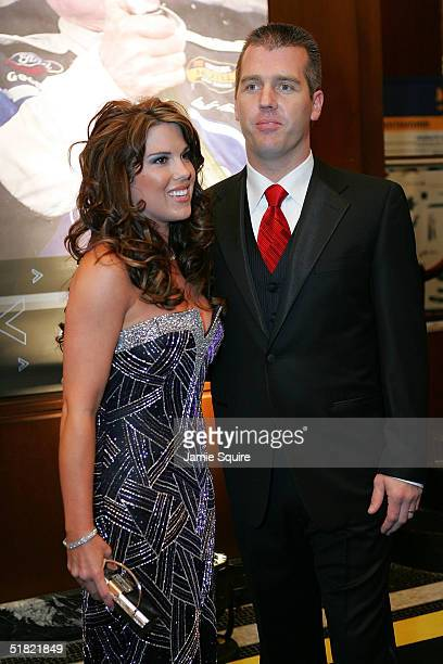 Jeremy Mayfield and his date arrive for the 2004 NASCAR Nextel Cup Awards at the Waldorf Astoria on December 3 2004 in New York City