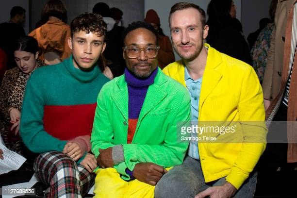 Jeremy McClain NYFW Men's Ambassador Billy Porter and Adam Smith attend the Landlord show during New York Fashion Week Men's at Pier 59 Studios on...