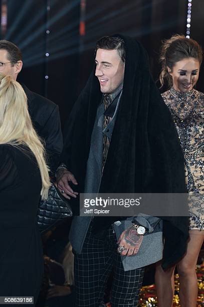 Jeremy McConnell at the final of Celebrity Big Brother at Elstree Studios on February 5 2016 in Borehamwood England