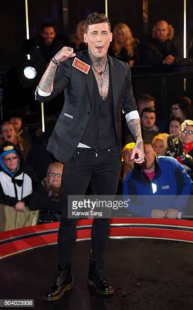 Jeremy McConnell enters the Celebrity Big Brother House at Elstree Studios on January 5 2016 in Borehamwood England