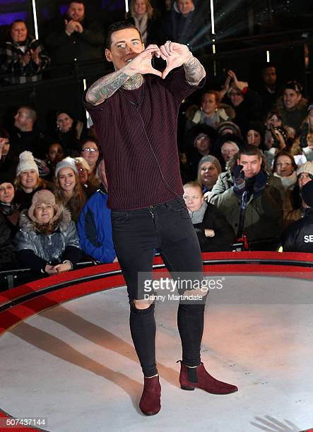 Jeremy McConnell is the 6th celebrity evicted from the Big Brother House at Elstree Studios on January 29 2016 in Borehamwood England