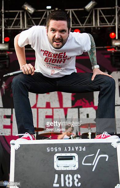 Jeremy McKinnon of A Day To Remember performs during 2013 Rock On The Range at Columbus Crew Stadium on May 18 2013 in Columbus Ohio