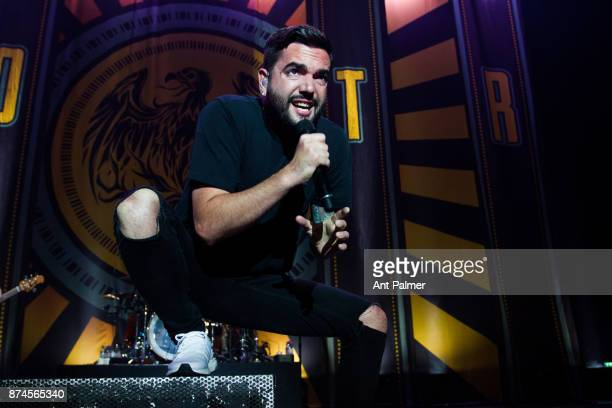 Jeremy McKinnon of A Day To Remember performs live on stage at the Koenig Pilsner Arena on June 13 2017 in Oberhausen Germany