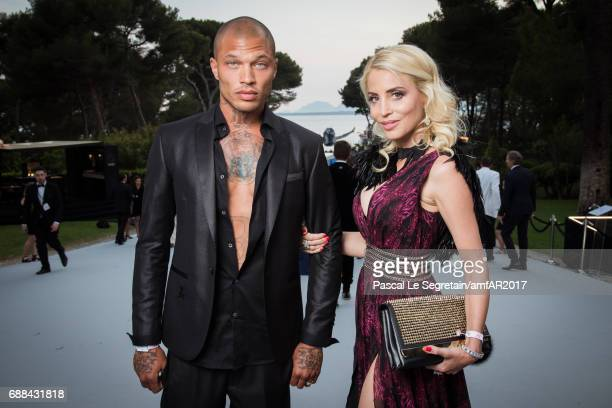 Jeremy Meeks and a guest attend the amfAR Gala Cannes 2017 at Hotel du CapEdenRoc on May 25 2017 in Cap d'Antibes France
