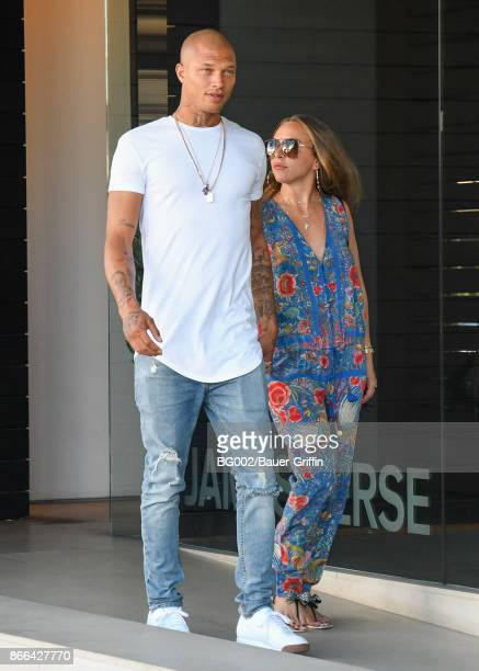 Jeremy Meeks and Chloe Green are seen on October 25 2017 in Los Angeles California