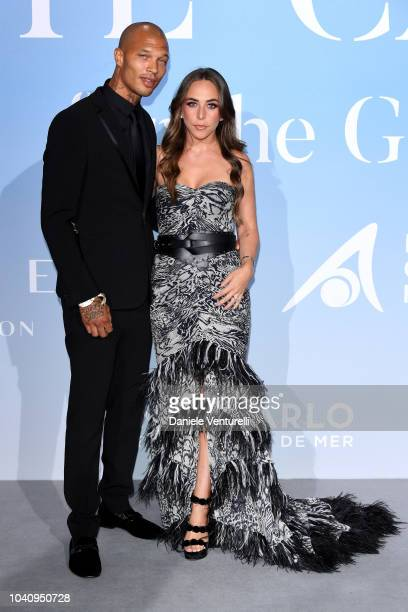 Jeremy Meeks and Chloe Green attend the Gala for the Global Ocean hosted by HSH Prince Albert II of Monaco at Opera of MonteCarlo on September 26...