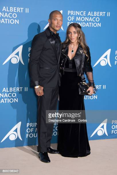 Jeremy Meeks and Chloe Green attend the Inaugural 'MonteCarlo Gala For The Global Ocean' Honoring Leonardo DiCaprio at The Monaco Garnier Opera on...
